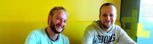 Foto: rechts Bart Aanstoot en links Thimo Woerts.