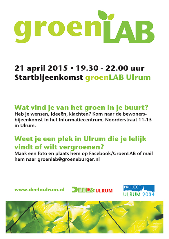 groenLAB_FLYER bijeenkomst 21 april 2015